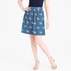 NWT J. Crew Factory Bengal Tiger Blue Print Skirt